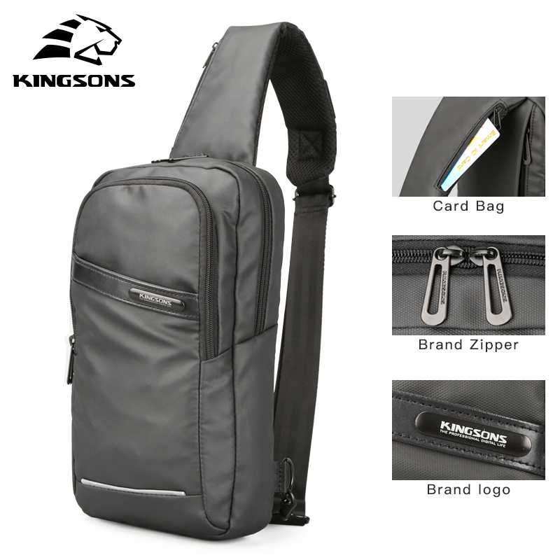 Kingsons 10.1 inch Tablet Pc Bag Business Travel Small Men Chest Bag Shoulder Bag for Ipad Air 2/ Ipad Pro 9.7