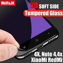 WeiFaJK 3D Full Screen Protector For  Xiaomi Redmi 4X 4 x Tempered Glass 9H Protector Full Cover for XiaoMi Redmi Note 4x 4 4 x