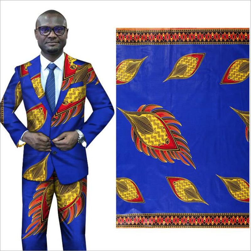 Me-dusa 2019 new blue folk-custom African Print Wax Fabric 100% cotton Hollandais Wax Dress Suit cloth 6yards/pcs High quility(China)