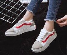 Nova versão Coreana coringa temporada de primavera e outono pequenos sapatos brancos sapatos de lazer sapatos da moda das mulheres