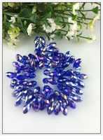 AAA Quality 6x12mm Royal Blue AB Teardrop Beads Crystal Glass Beads Craft Bracelet DIY Beads Pendant 100pcs/lot Free Shipping