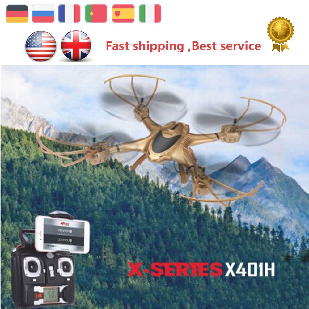 ФОТО ET RC Drone MJX X401H Altitude Hold WiFi FPV 2.4GHz 0.3MP CAM 4CH 6 Axis Gyro Quadcopter Dual Transmitter/APP Mode VS X5C