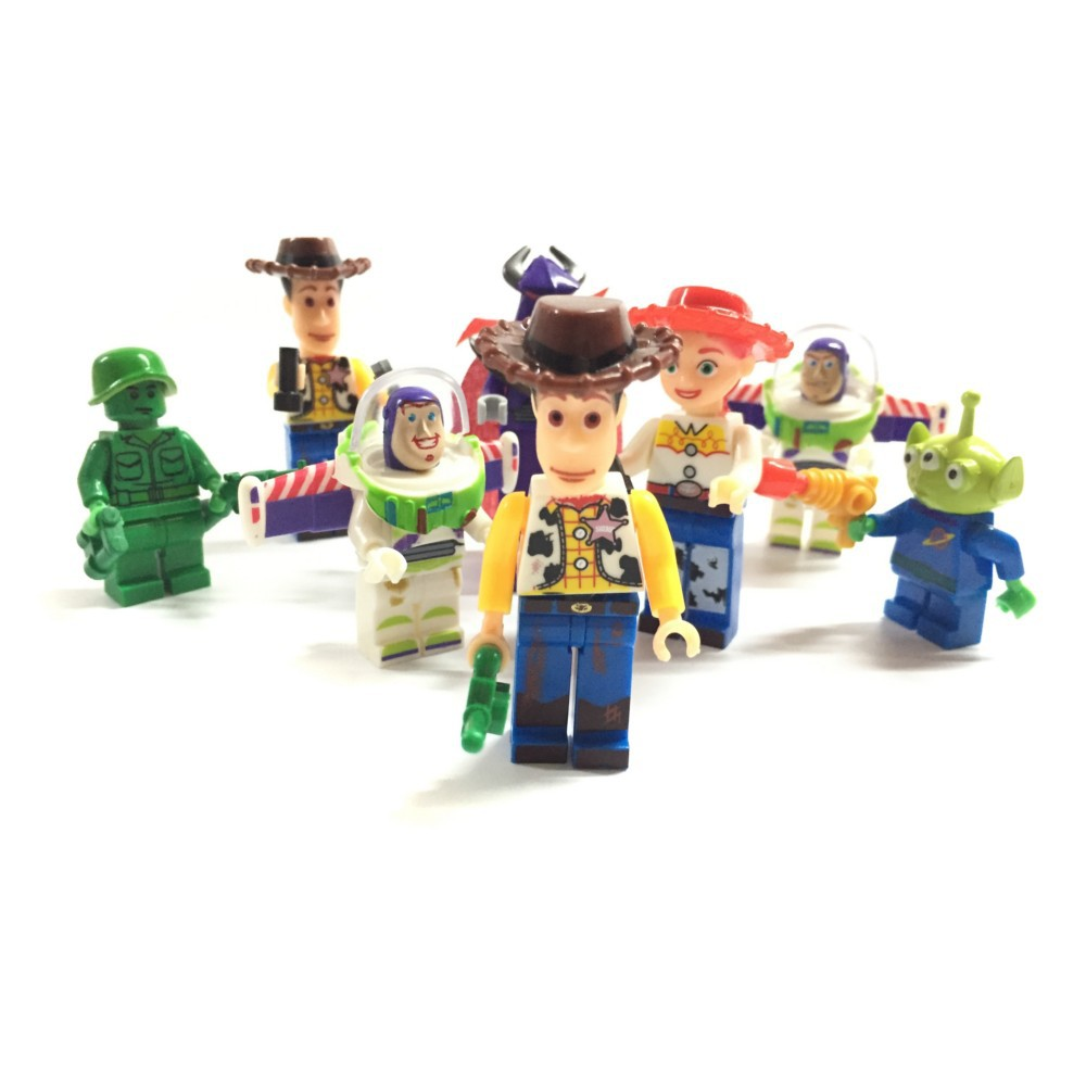 8pcs small toy story woody buzz lightyear action figures - Lego toys story ...