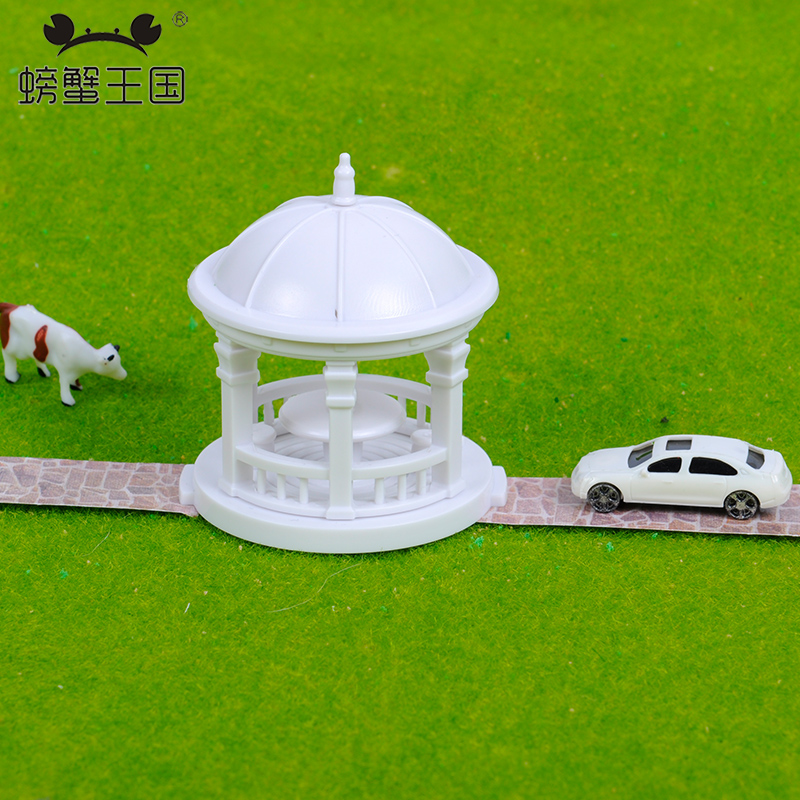 2pcs Pavilion Model Gloriette Chinese Construction 1:75 1:100 1:150 Model Train HO N Scale Railway Modeling