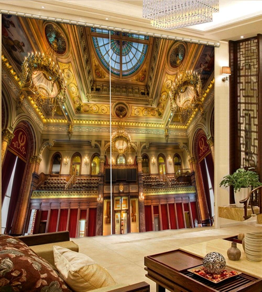 Cortinas Para A Sala De Estar De Luxo Europeu Arquitetura Cortinas