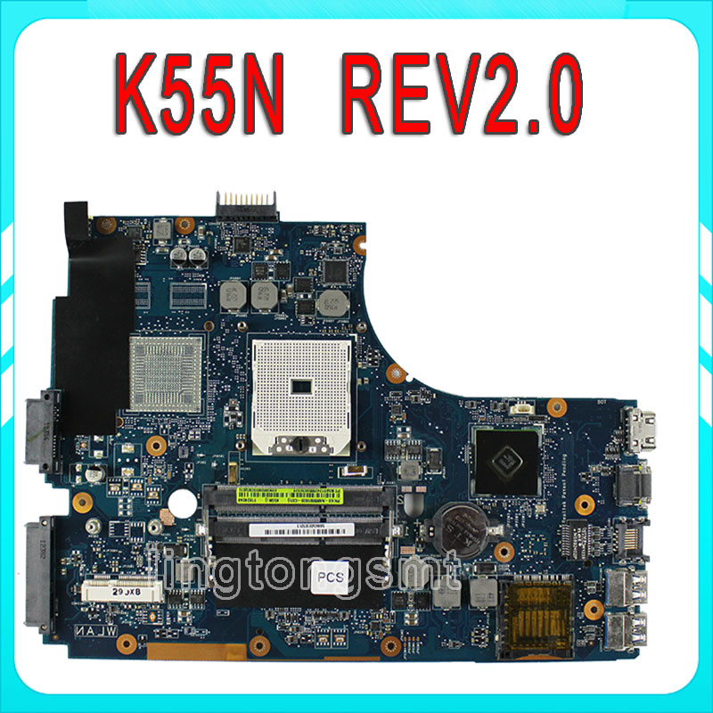 K55N Motherboard for ASUS K55DE REV2.0 Integrated 69N0M9M10D05 Fully Tested almost new Main BoardK55N Motherboard for ASUS K55DE asus g31 motherboard g31tlm g31tlm2 fully integrated g31tm v1 0 lot