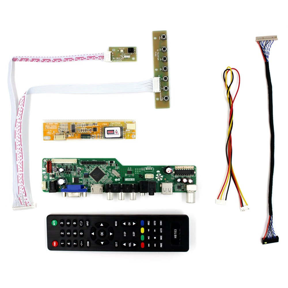Kit for CLAA141XF01 TV+HDMI+VGA+USB LCD LED screen Controller Driver Board