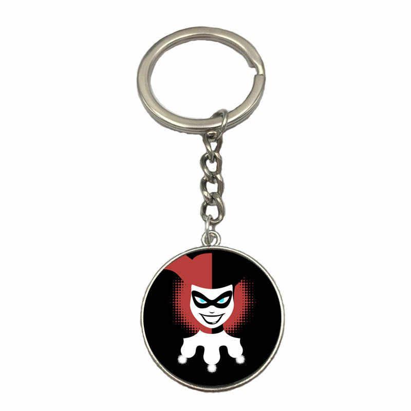 2019 Suicide Squad figura llavero Harley Quinn juego dibujos animados figuras llavero joyería película llave Funko titular bolsa