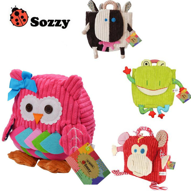 sozzy 5 style Cute Kids Plush School Backpack Toddlers Baby Childrens Boys Girls School Bag