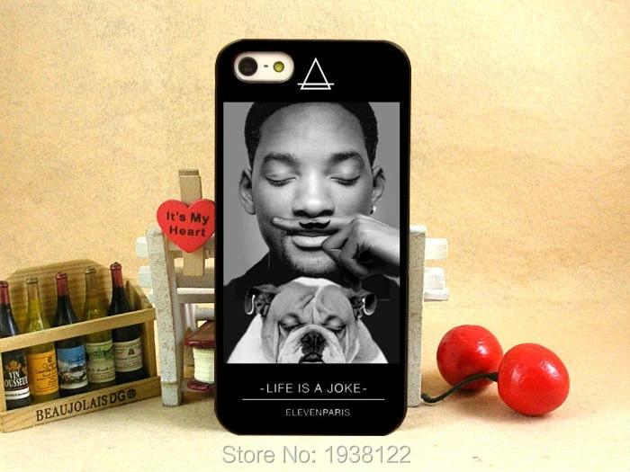 Nouvelle Coque eleven paris star mondiale LIFE IS A Joke Will Smith dur caisse de peau du noir pour iphone 5 5S 4 4 g 4S 5C détail