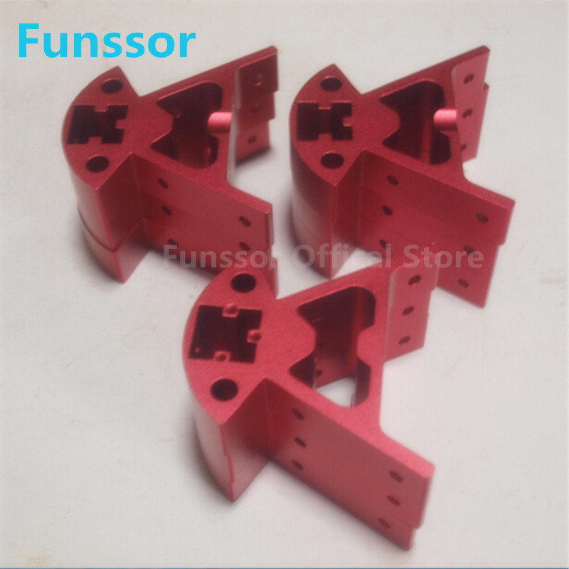 Funssor Reprap Delta kossel k800 mini 2020 extrusion corner fittings for DIY Kossel 3D printer funssor 500mm 120v 500w round polyimide film heater bed ntc3950 thermistor for diy delta kossel 3d printer