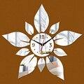 2016 новый дом украшения diy 3d акриловые зеркало на стене наклейки часы часы reloj де сравнению часы кварц гостиной Современный иглы
