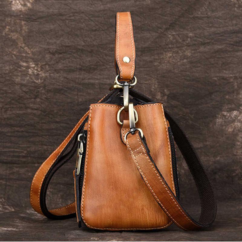 b66d9e2d92bf ... Norbinus 2018 женская сумка из натуральной кожи роскошная дизайнерская  сумка через плечо для женщин маленькая сумка ...