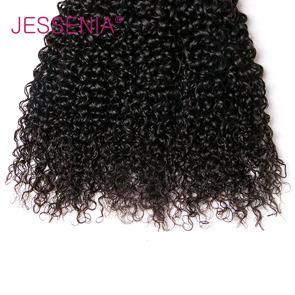 JESSENIA HAIR 3Pcs Malaysia Curly Hair Weave Non Remy Human Hair Bundles 8-26 inch Natural Color Hair Weft Free Shipping