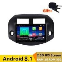 10 2+32g 2.5D IPS Android 8.1 Car DVD Multimedia Player GPS For Toyota RAV4 2007 2010 2011 2012 audio radio stereo navigation