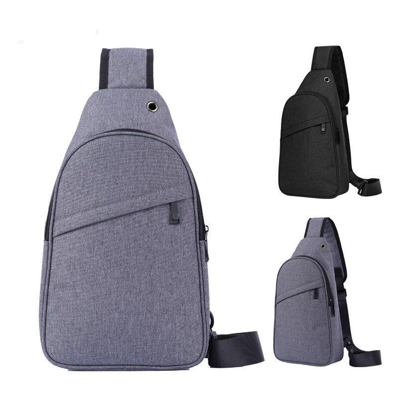 ETONTECK Oxford Men Chest Bags Fashion waterproof Crossbody Messenger Bag for male Women Travel Shoulder Bag with Headphone Hole