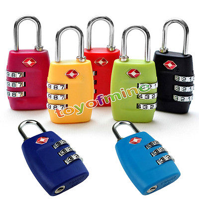 80daf3792688 US $2.8 |TSA Resettable 3 Digit Dial Combination Travel Suitcase Luggage  Bag Security Code Lock Padlock Blue Zinc Alloy-in Openers from Home &  Garden ...