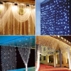 600LED 6 3m Waterfall Curtain Fairy Dreamlike Waterproof String Lights For Wedding Party Home Wall Garden