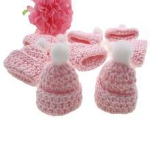 12 шт ручной работы розовый миниатюрный крючком шляпа для детского