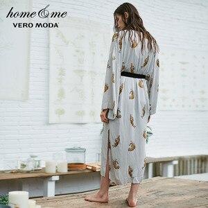 Image 3 - Vero Moda damski nadruk zwierzęta luźny krój szlafrok