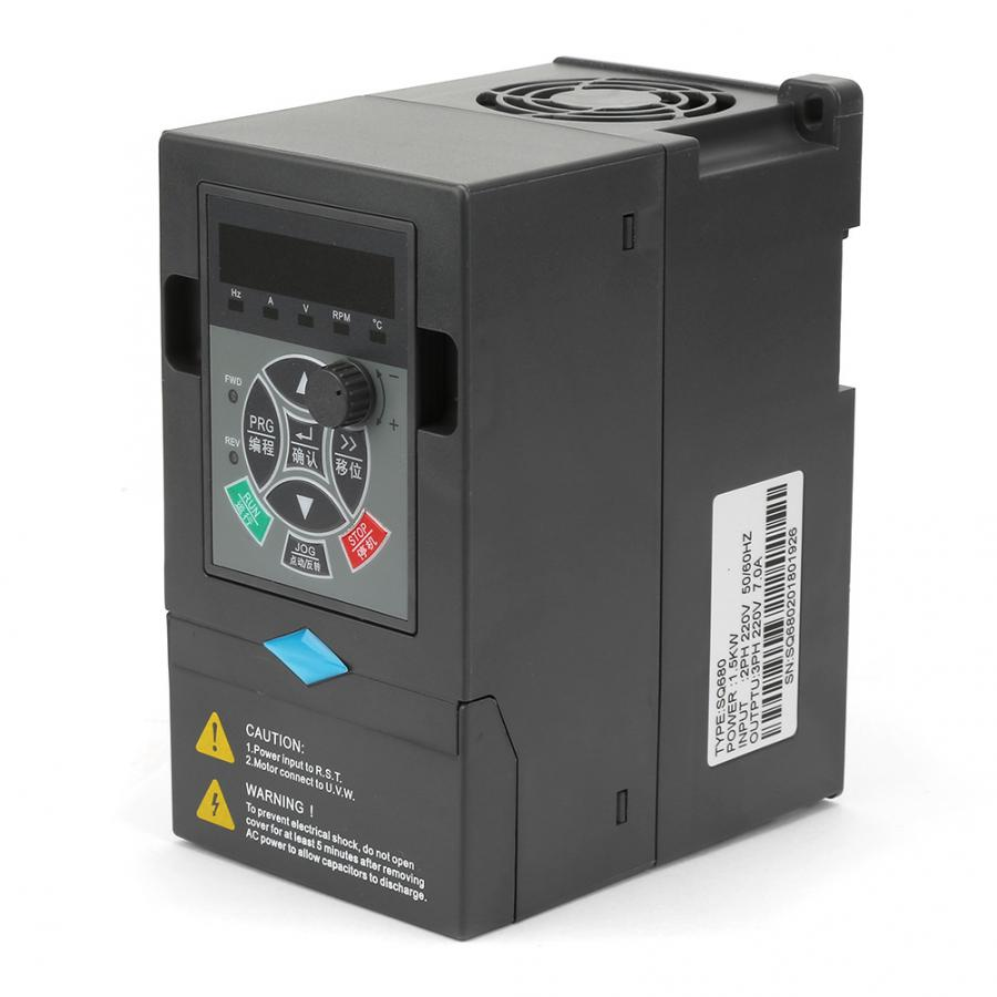 <font><b>220V</b></font> <font><b>1</b></font>.5KW <font><b>1</b></font> Input <font><b>3</b></font> <font><b>Phase</b></font> Output Universal VFD Variable Frequency Drive Converter <font><b>Inverter</b></font> Frequency Converter image