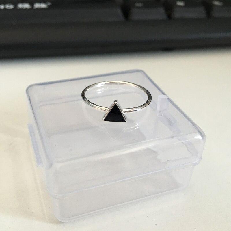Anillos de triángulo de geometría de plata esterlina 925 simples - Bisutería - foto 5