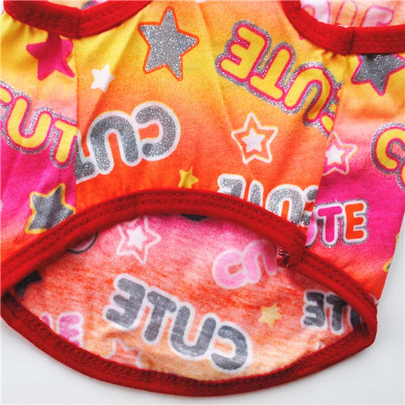 Puppy Clothes Fashion Printed Summer Breathable Thin Cotton Pet Dog Vest T Shirt for Small Dogs Cats Chihuahua Accessories5