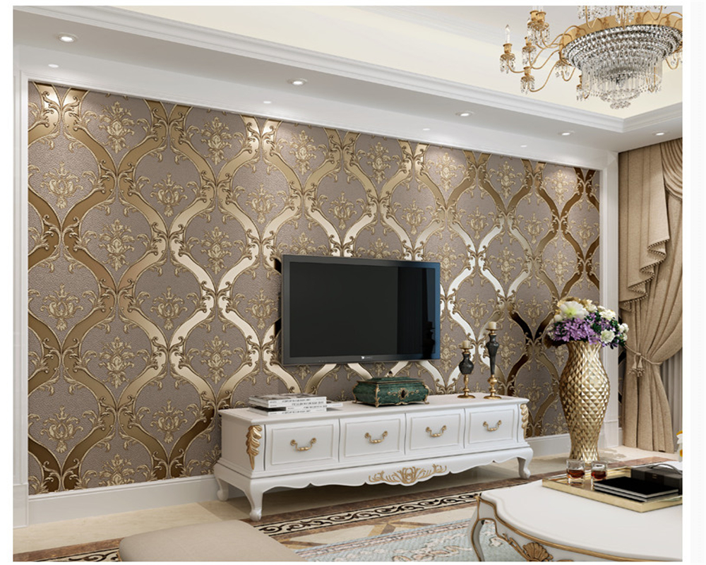 wallpaper designs for living room sydney | beibehang European classic personality faux leather 3d ...