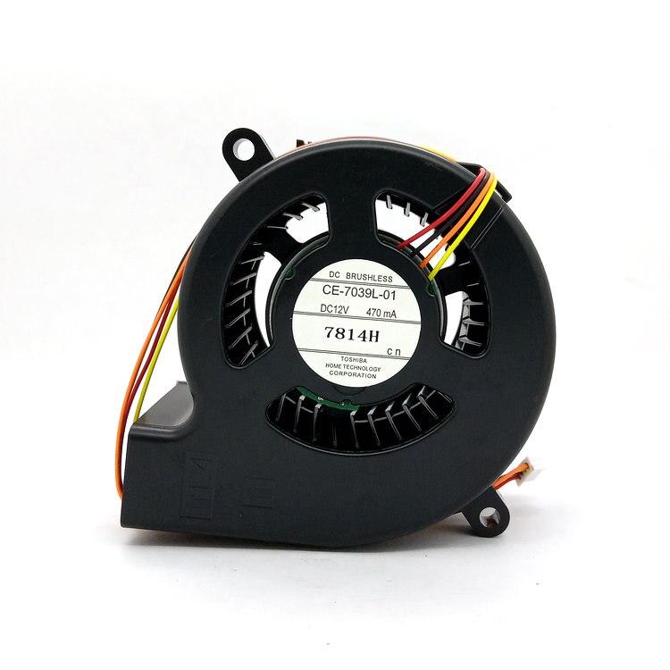 New Original CE-7039L-01 DC12V 470mA para EPSON CB-X24 X25 X27 X29 X30 97 97 H Projetor ventilador de refrigeração