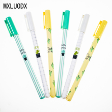 Colored Cactus Pattern Gel Pen DIY Kawaii Office Stationery and School Supplies Smooth Writing Black and Blue Ink Pen 0.5mm 1PCS матрас аскона mediflex kids star 90x200