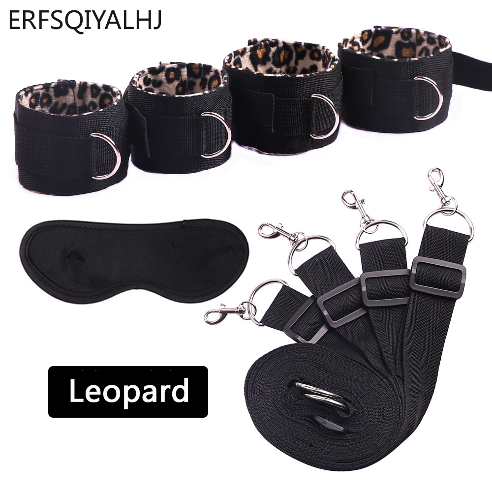 Handcuff Ankle Bdsm Bondage Set Handcuffs for Sex Strapon for Couples Adult Games Erotic Toys for Couple Sex Accessories 5 Color