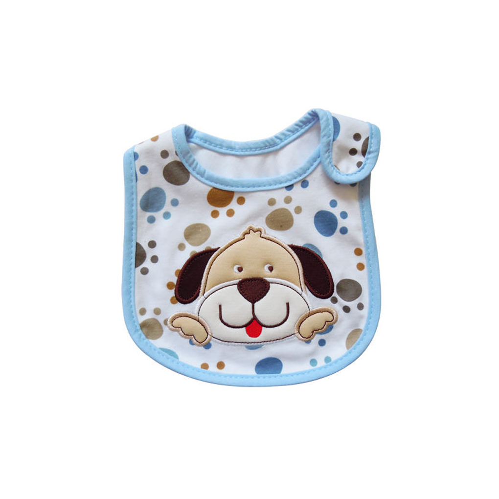 Cute Cartoon Pattern Baby Cotton Bib Infant Waterproof Saliva Towel Bib Apron Burp Cloths Feeding Wear