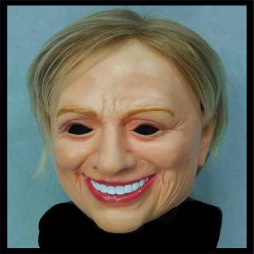 Top Grade 100% Latex Costume Mask Halloween Cosplay Latex Ornament Masquerade Carnival Hillary Mask Lady Face Mask Female Mask