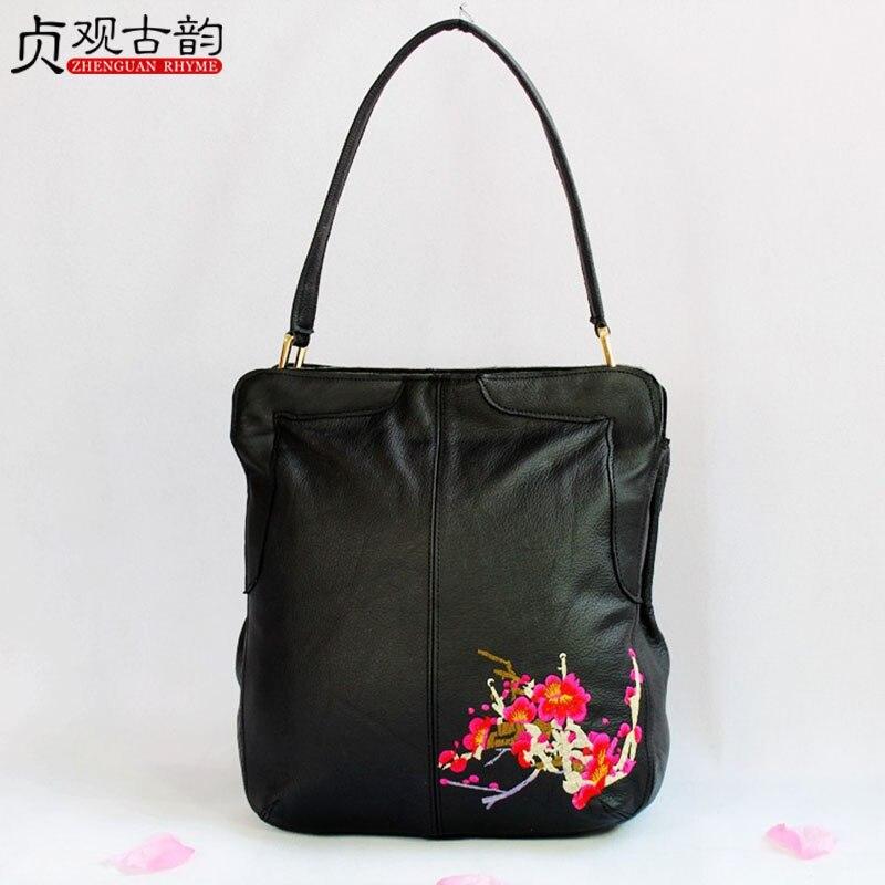 NoEnName 2018 Summer New womenHandbag Business bag Shoulder Bag Handmade Ethnic Embroidery Colorful Elegant Ladies Bag noenname