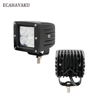 ECAHAYAKU 3Inch Cubes 18W Led Work Light 6000K IP67 Waterproof Dustproof Shockproof for Farm Mechines Military Vehicles ATV SUV
