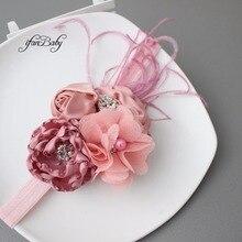 Модная повязка на голову burn flower, пятностойкая Ткань розы повязка на голову с горным хрусталем