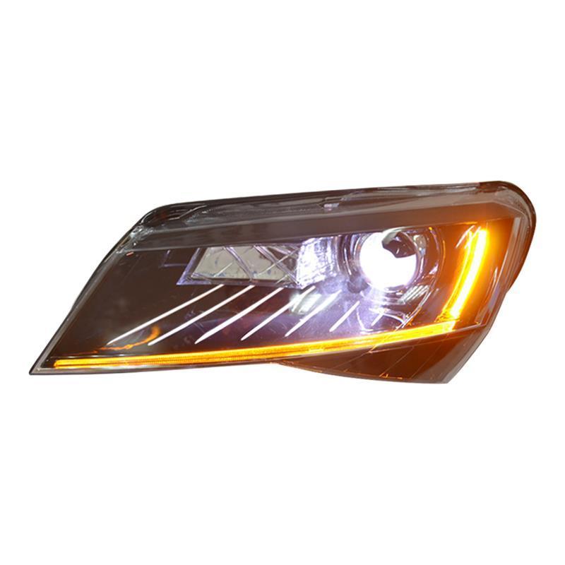 Автомобили параметры люксов освещения авто automoсветодио дный Vil LED бег Assessoires ЛАМПЫ ЗАПЧАСТИ Drl фары для автомобиля огни сборки Skoda Superb