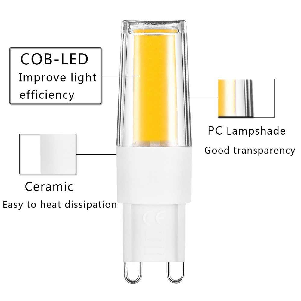 10pcs/ ACDC 12V 220V Mini G4 LED G9 COB Bulb Candle Silicone Lights Replace 10W 20W 35W 50W Halogen lamp Chandelier Spotlight