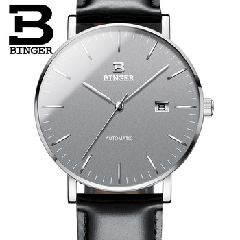 Switzerland BINGER Watches Men Casual Brand Relogio Masculino Water Resistant Automatic Movement Mechanical Wristwatches