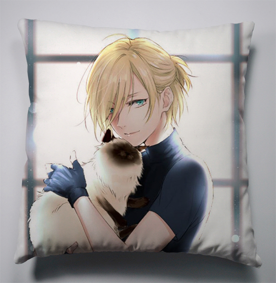 Free Shipping 40 40cm Chair Pad Cushion Pearl Cotton: Anime Manga YURI!!! On ICE Pillow 40x40cm Pillow Case