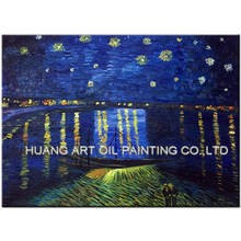 Skills Artist Handmade High Quality Famous Vincent Van Gogh Oil Paintings On Canvas Reproduction Starry Night Painting