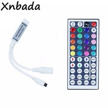 Mini RGB Led controlador con 44 llaves IR remoto Controlador Led para 3528 de 5050 RGB tira de Led de DC12V 6A(China)
