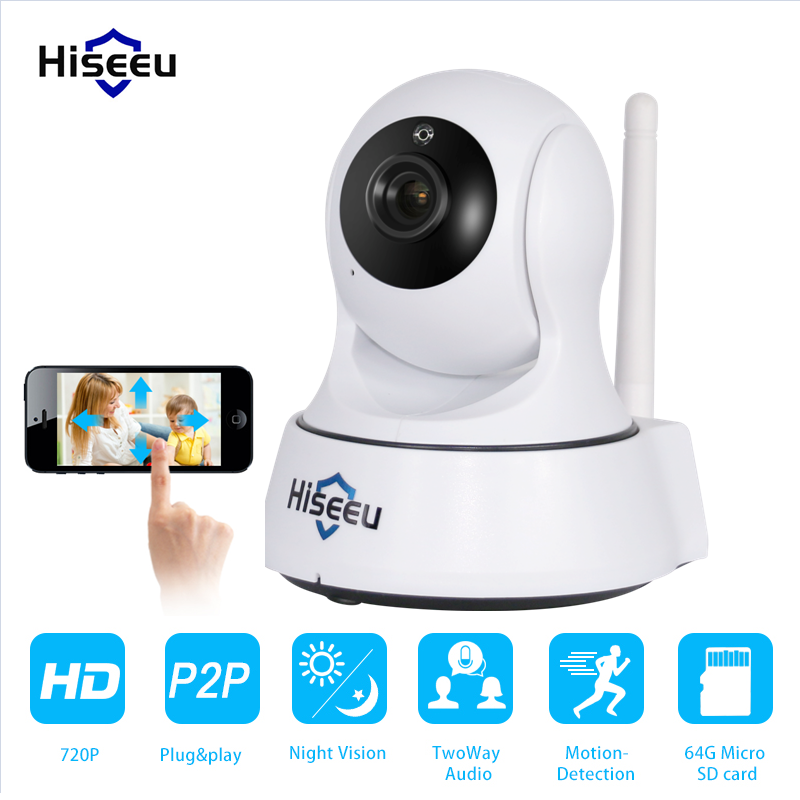 ФОТО Mini HD Wireless IP Camera Wifi 720P Smart IR-Cut Night Vision Surveillance Onvif Network CCTV Security Camera wi-fi hiseeu FMA