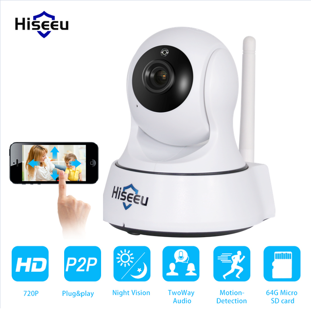 Mini HD Wireless IP Camera Wifi 720P Smart IR-Cut Night Vision Surveillance Onvif Network CCTV Security Camera wi-fi hiseeu FMA