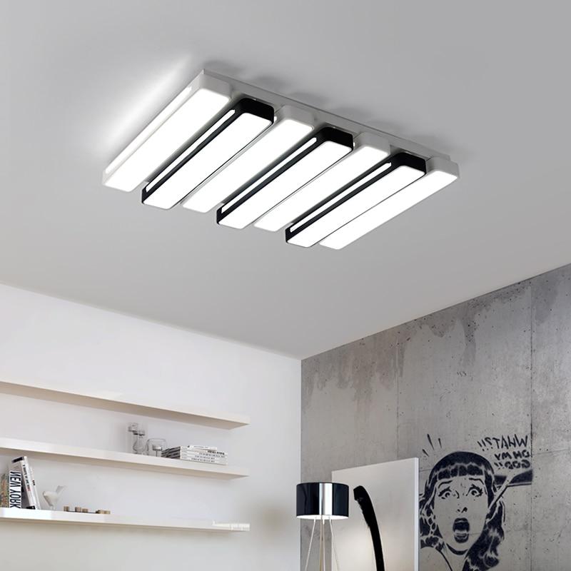 Schwarz Weiss Rechteck Moderne Led Deckenleuchte Kreative Leuchte Fr Wohnzimmer Schlafzimmer Studio