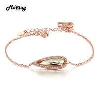MoBuy MBHI010 Luxe Grote Natuurlijke Edelsteen Citrien Armbanden $ Bangle 925 Sterling Zilveren Fijne Sieraden Rose Vergulde Voor Vrouwen