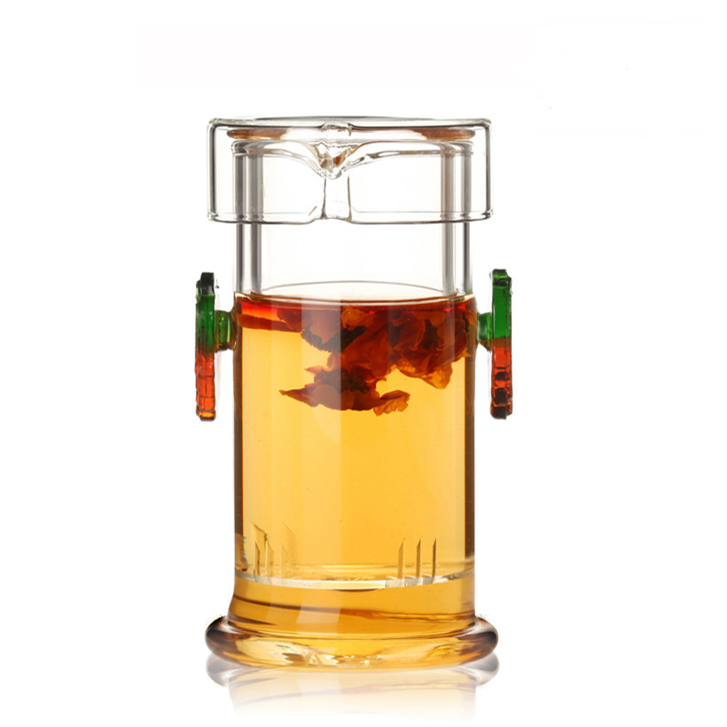 Heat-resistant Glass Tea Pot Chinese Kung Fu Flower Teapot With Filter Coffee Kettle,Beautiful and easy teapotHeat-resistant Glass Tea Pot Chinese Kung Fu Flower Teapot With Filter Coffee Kettle,Beautiful and easy teapot