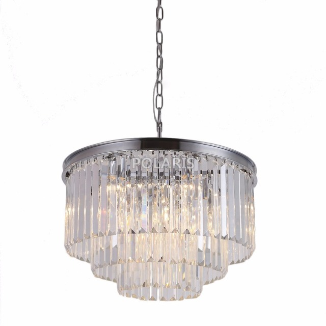 Clearance Crystal Chandelier Lighting Hanging Lamp Restaurant Living Dining Room Light With K9
