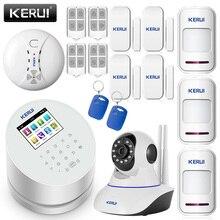 KERUI Android IOS app remote control WIFI GSM PSTN three