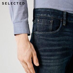 Image 5 - Выбранные мужские джинсы из лайкры легкий стрейч винтажный Тонкий Осень и зима подходят джинсовые брюки уличная эффект усов S